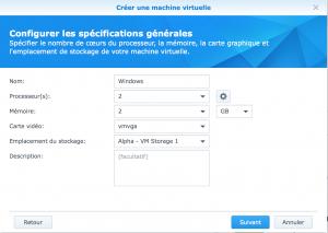 Informations générales - Virtual Machine Manager